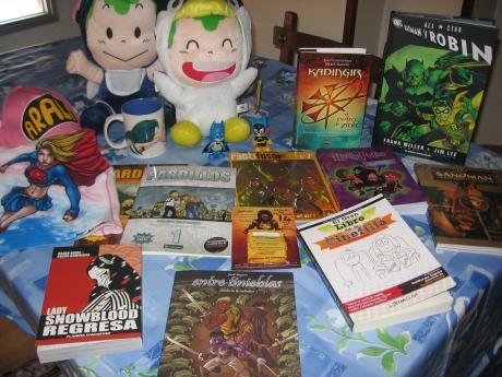 Las compras de Kokhe en el Saló del Còmic